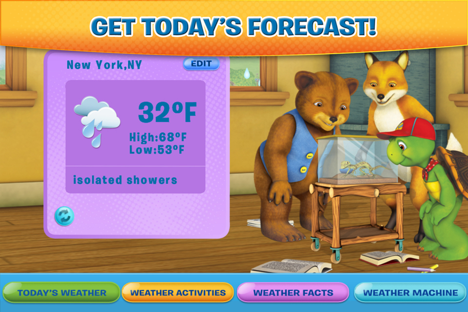 Screenshot Franklin and Friends: Franklin&#8217;s Weather Fun